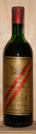 WINO ROCZNIK 1966 - BORDEAUX ROUGE BEAUSSINOT